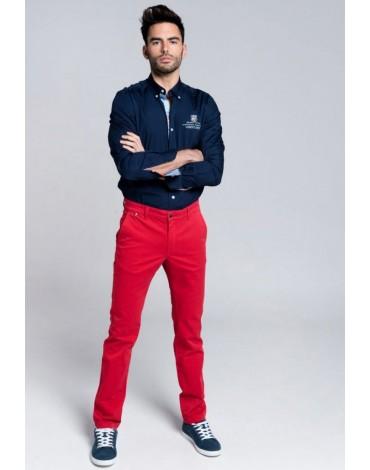 Valecuatro pantalón chino rojo