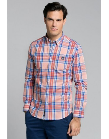 Valecuatro orange tartan shirt