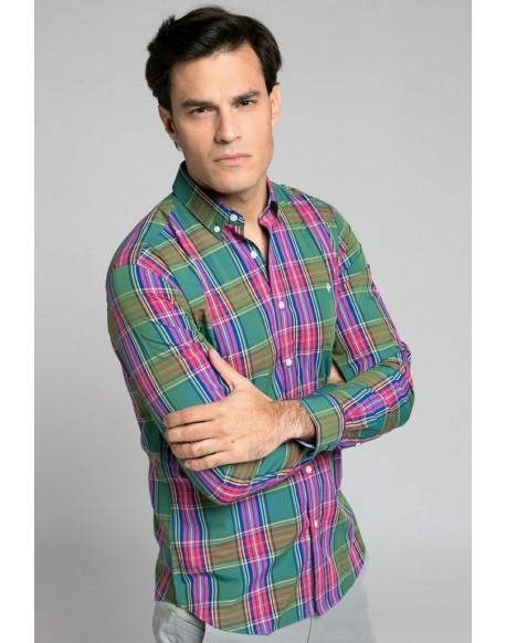 Valecuatro green tartan shirt