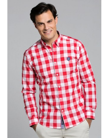 Valecuatro red plaid shirt