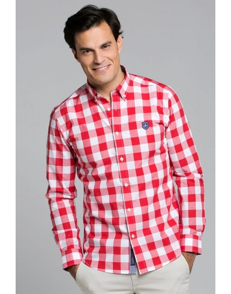 Valecuatro red plaid shirt