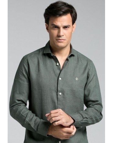 Valecuatro khaki linen shirt