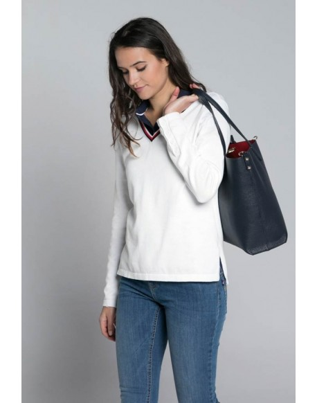 Valecuatro white v-neck sweater