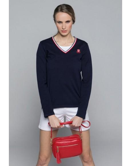 Valecuatro v-neck sweater navy blue