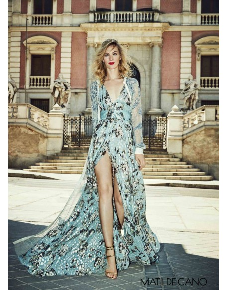 Matilde Cano long printed dress