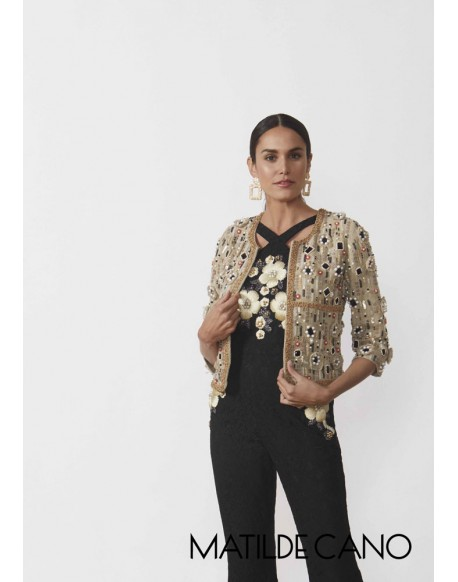 Matilde Cano embroidered appliqué jacket