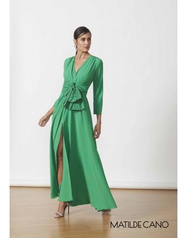 Matilde Cano vestido largo verde