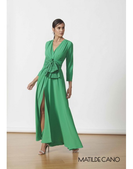 Matilde Cano long green dress
