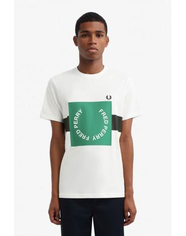 Fred Perry camiseta blanca logo