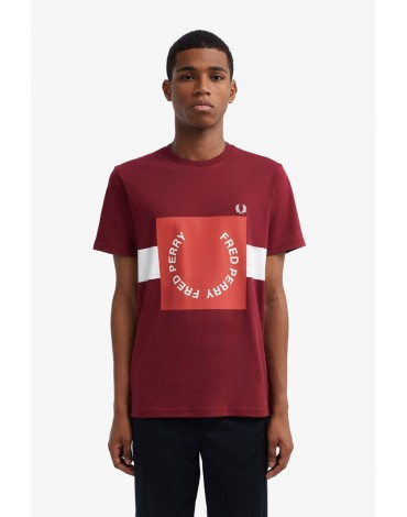 Fred Perry red logo t-shirt