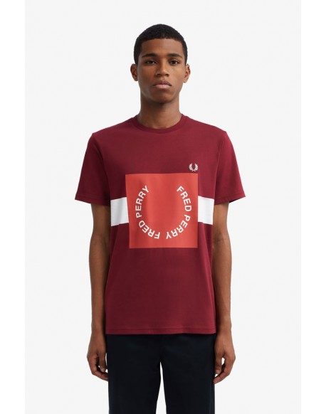 Fred Perry camiseta roja logo