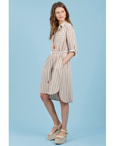 Hongo striped shirt dress