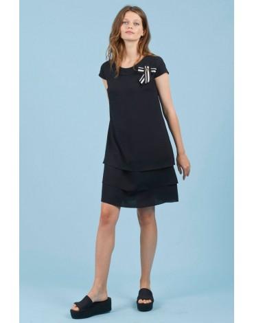 Black dress Hongo ruffles