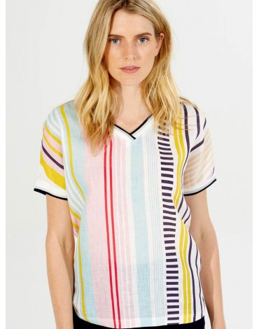 Vilagallo multicolour striped t-shirt
