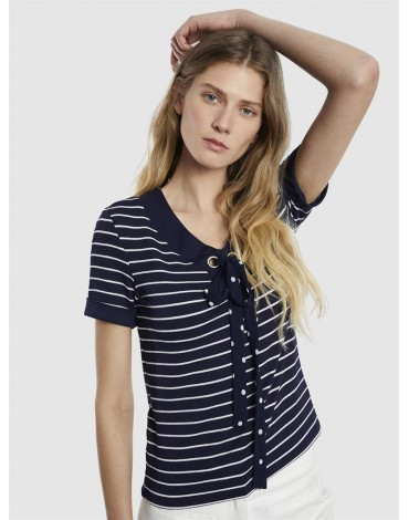 Scorpion striped navy t-shirt
