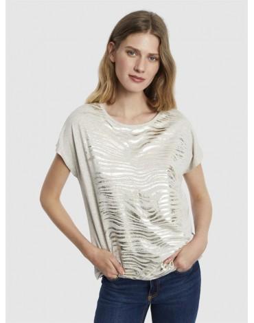 Escorpion camiseta estampada cebra