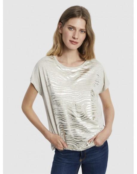Escorpion zebra print t-shirt