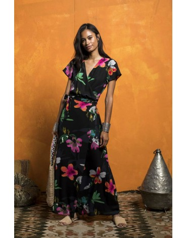 MdM printed wrap dress