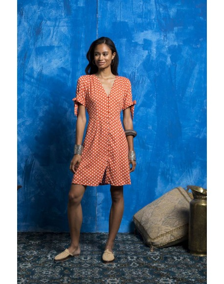 MdM orange polka dot dress