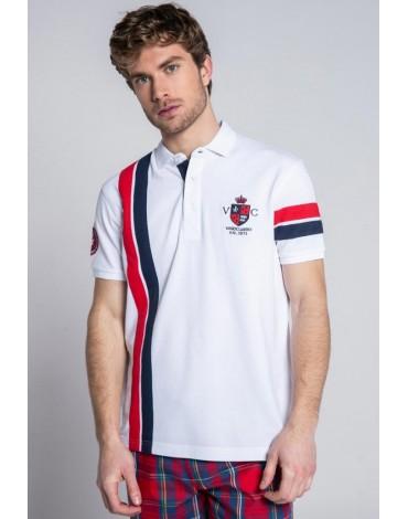 Valecuatro polo shirt shields white