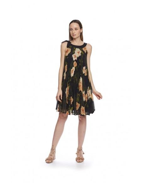 MdM printed pleated dress