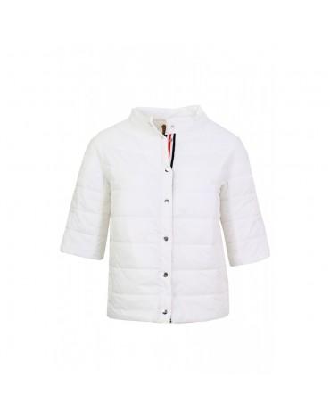Women's white padded parka