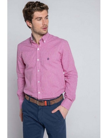 Valecuatro fuchsia gingham shirt