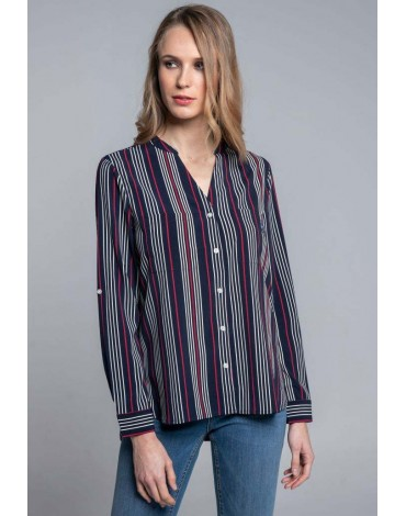 Valecuatro navy blouse