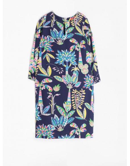 Vilagallo floral navy dress
