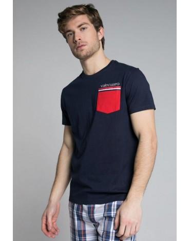 Valecuatro navy pocket t-shirt