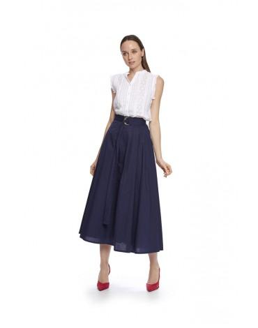 MdM falda azul midi