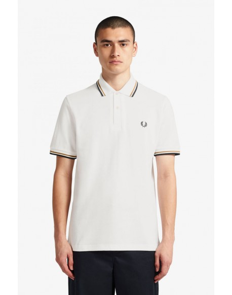 Fred Perry snow white polo trim
