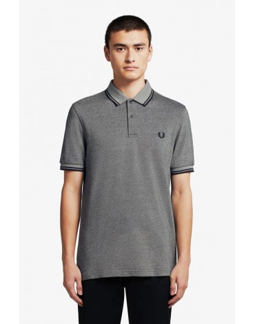 Fred Perry polo negro oxford M3600