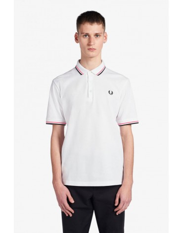 Fred Perry white polo shirt made in Japan