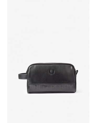 Fred Perry black toiletry bag
