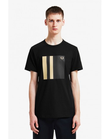 Fred Perry camiseta negra ribete