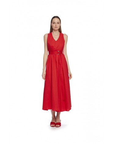 MdM red pleated dress