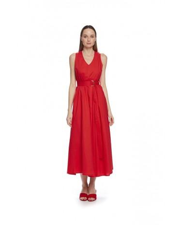 MdM vestido rojo plisado