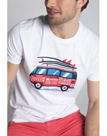 Valecuatro camiseta blanca surf