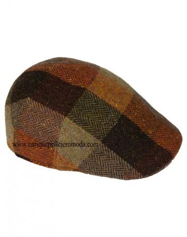 Gorra lana cuadros caldero