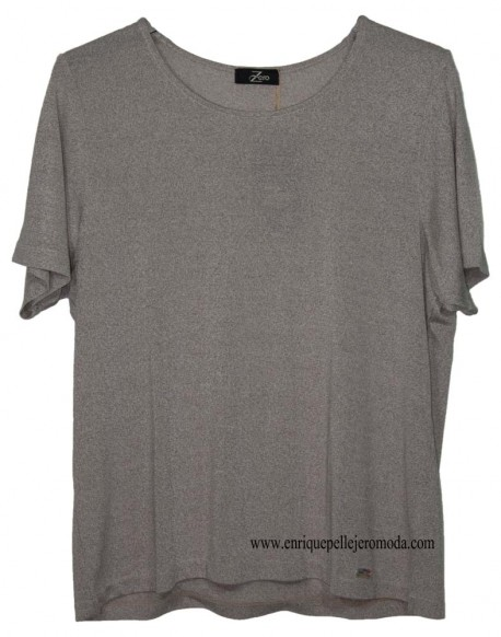 Zero brown sweater short-sleeved sweater