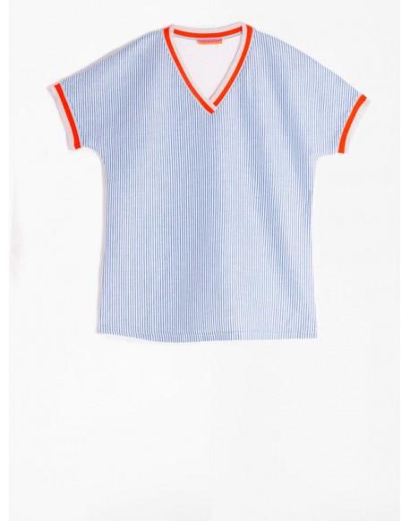 Vilagallo camiseta rayas azules