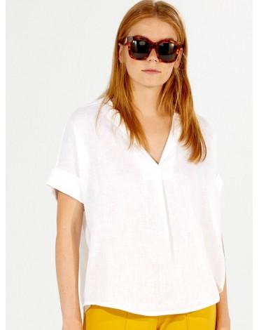 Vilagallo white linen shirt