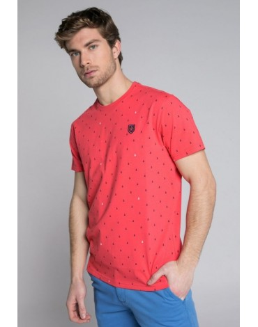 Valecuatro camiseta coral anclas