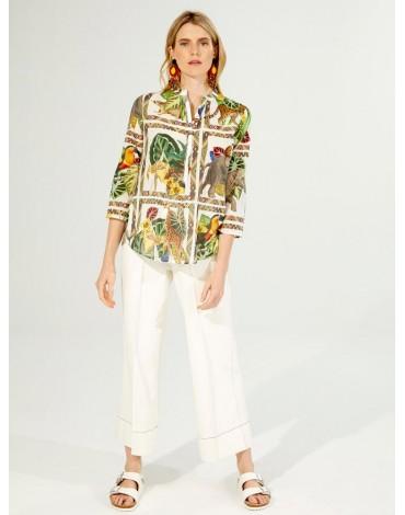 Vilagallo printed sleeve blouse