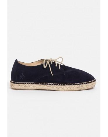 Valecuatro jute navy sneakers