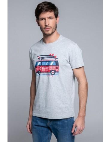 Valecuatro camiseta gris surf