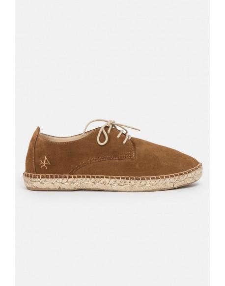 Valecuatro jute leather sneakers