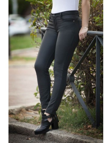 Waltron black skinny trousers