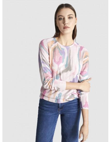 Escorpion pink print sweater